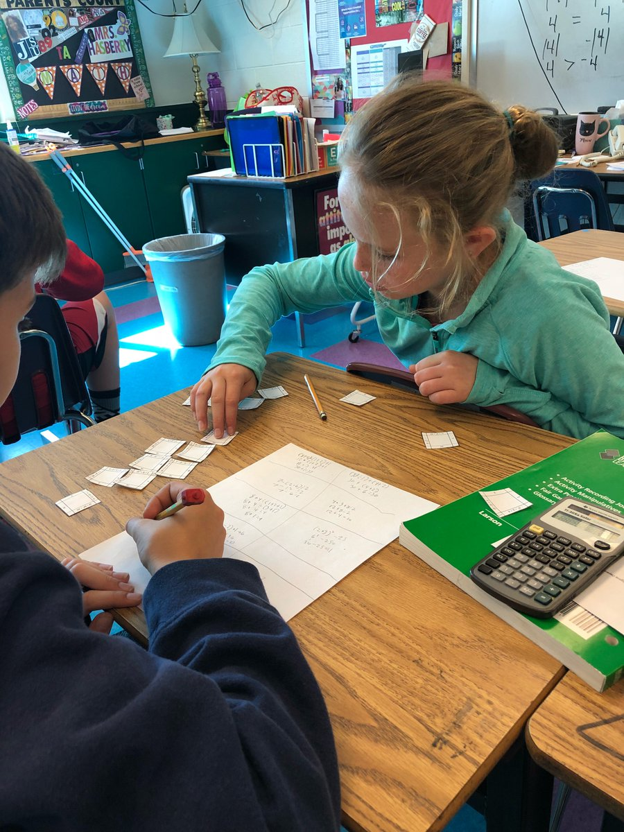 Working with 6th grade students on Order of Operations!  They had to put a puzzle together aligning equations with correct answers.  Such fun! <a target='_blank' href='http://twitter.com/APSVirginia'>@APSVirginia</a> <a target='_blank' href='http://twitter.com/APSGifted'>@APSGifted</a> Thanks Mrs. Young-Hasberry for hosting me today! <a target='_blank' href='http://twitter.com/APSGunston'>@APSGunston</a> <a target='_blank' href='https://t.co/sboAzBRH7h'>https://t.co/sboAzBRH7h</a>