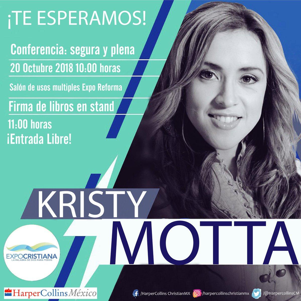 Asiste el próximo sábado 20 de Octubre a la conferencia: Segura y plena con Kristty Mota en #Expocristiana2018 y al termino de la conferencia tendremos una firma de libros en nuestro stand. #Exporeforma #mujerfuerte #Cristiano