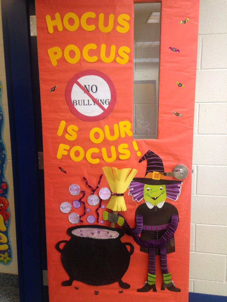 I'm loving my door for Bully Prevention month. #hesteach #spsk12proud
