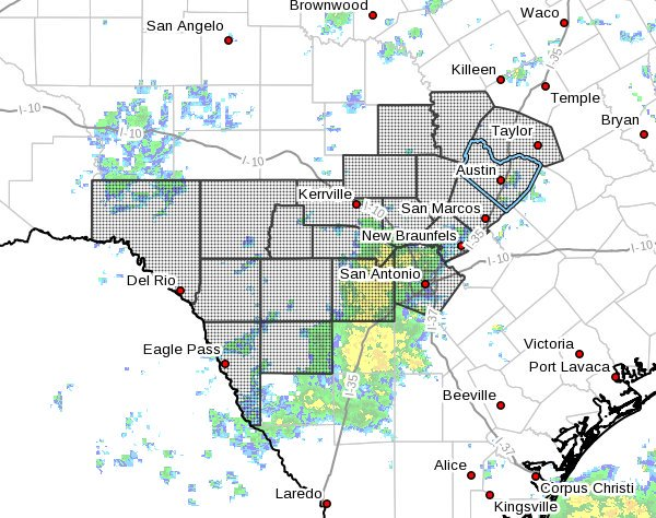 The NWS extended our Flash Flood Watch to Friday evening. #atxwx<br>http://pic.twitter.com/f2Ss6mKbWg