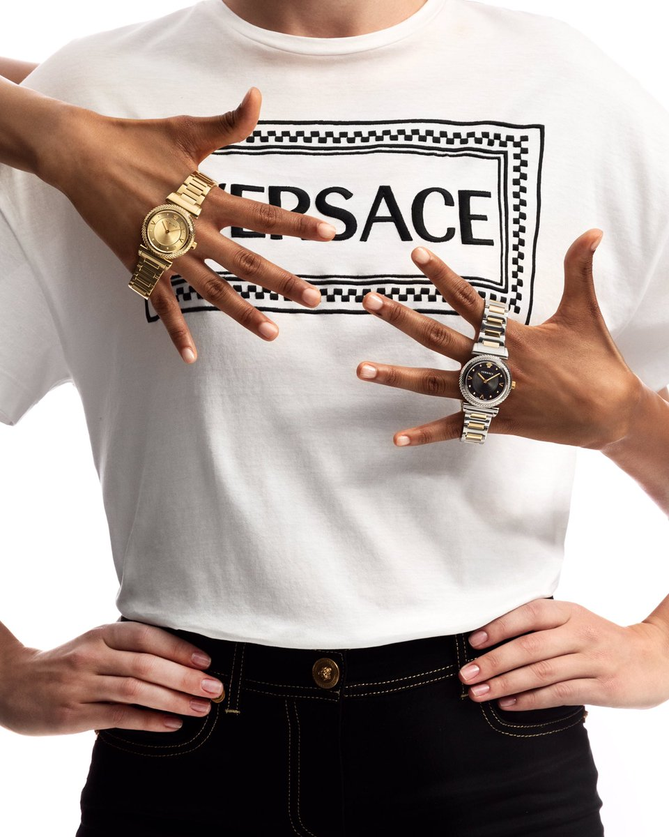 On Versace time - the V-Motif watch comes with a metal bracelet or with a leather strap boasting the Vintage logo.   #VersaceWatches are available now: https://t.co/26A63L7wHy
