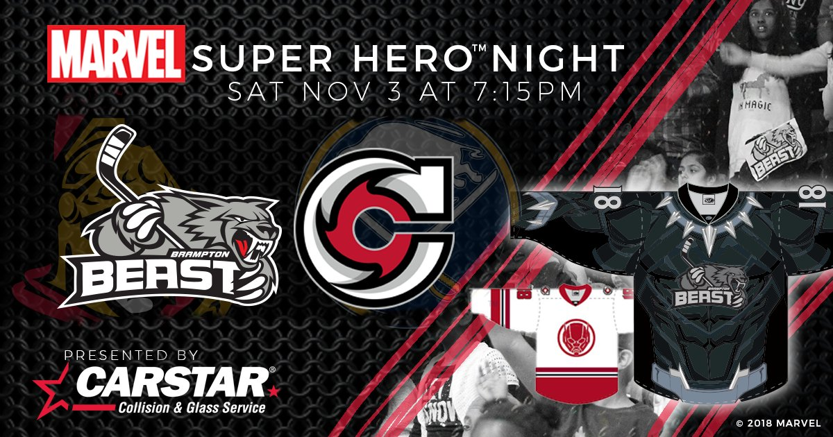 2634a5b8b The Beast will don Black Panther themed jerseys as we tangle with the  @CincyCyclones in their Ant-Man sweaters! The game goes November 3rd at  7:15 PM!