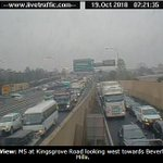 M5 EAST: The tunnel is closed eastbound due to an overheight vehicle. Traffic is very heavy. Expect significant delays and allow plenty of additional travel time.