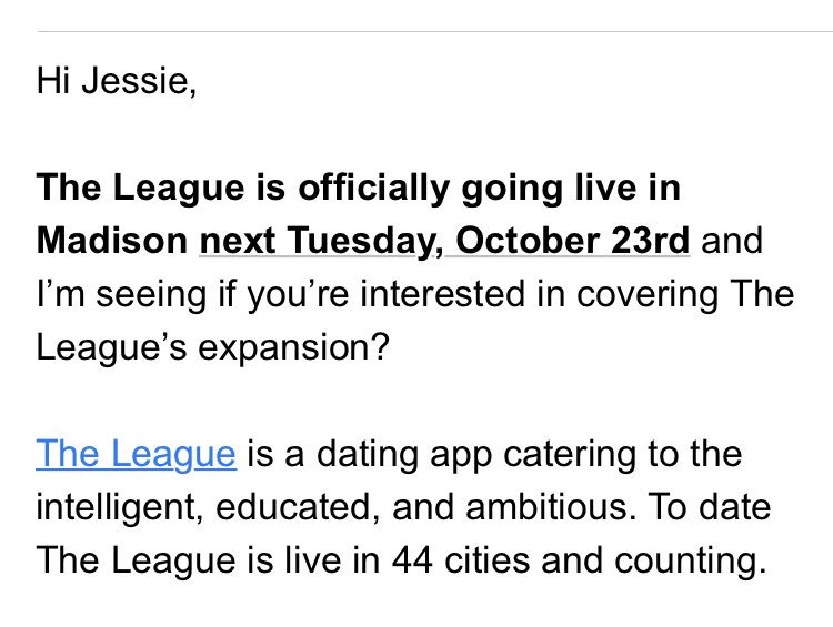 the league dating app cities