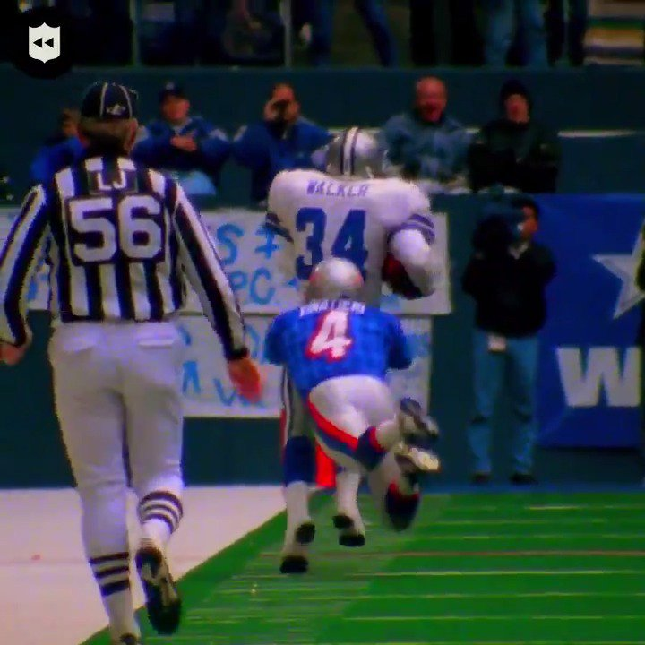Vinatieri once played against Herschel Walker.. He's still playing.. that's my first reaction to this video. Dude's been playing since the super standard def days... about to become the points king on Sunday.. What an incredible career