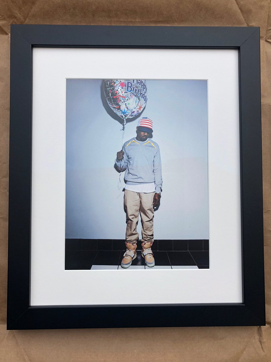 My Bf Ripped The Picture Of Kanye Holding A Happy Birthday Balloon Out His Glow In Dark Book And Framed It For I Loved So Much