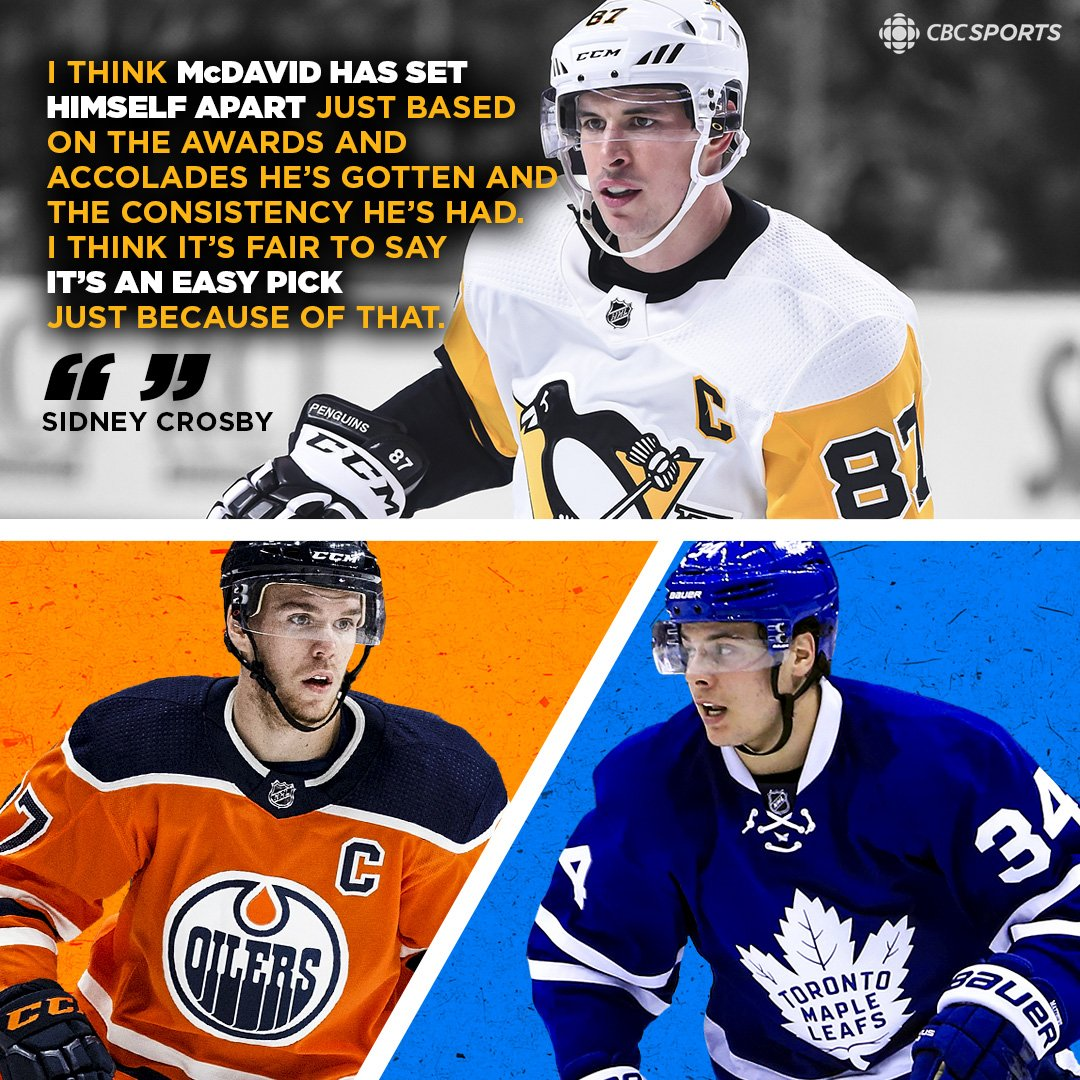 Sidney Crosby weighed in on the #McDavid vs. #Matthews debate and he's Team McDavid. Do you agree? 🤔  MORE: https://t.co/lmhxHXUzUu