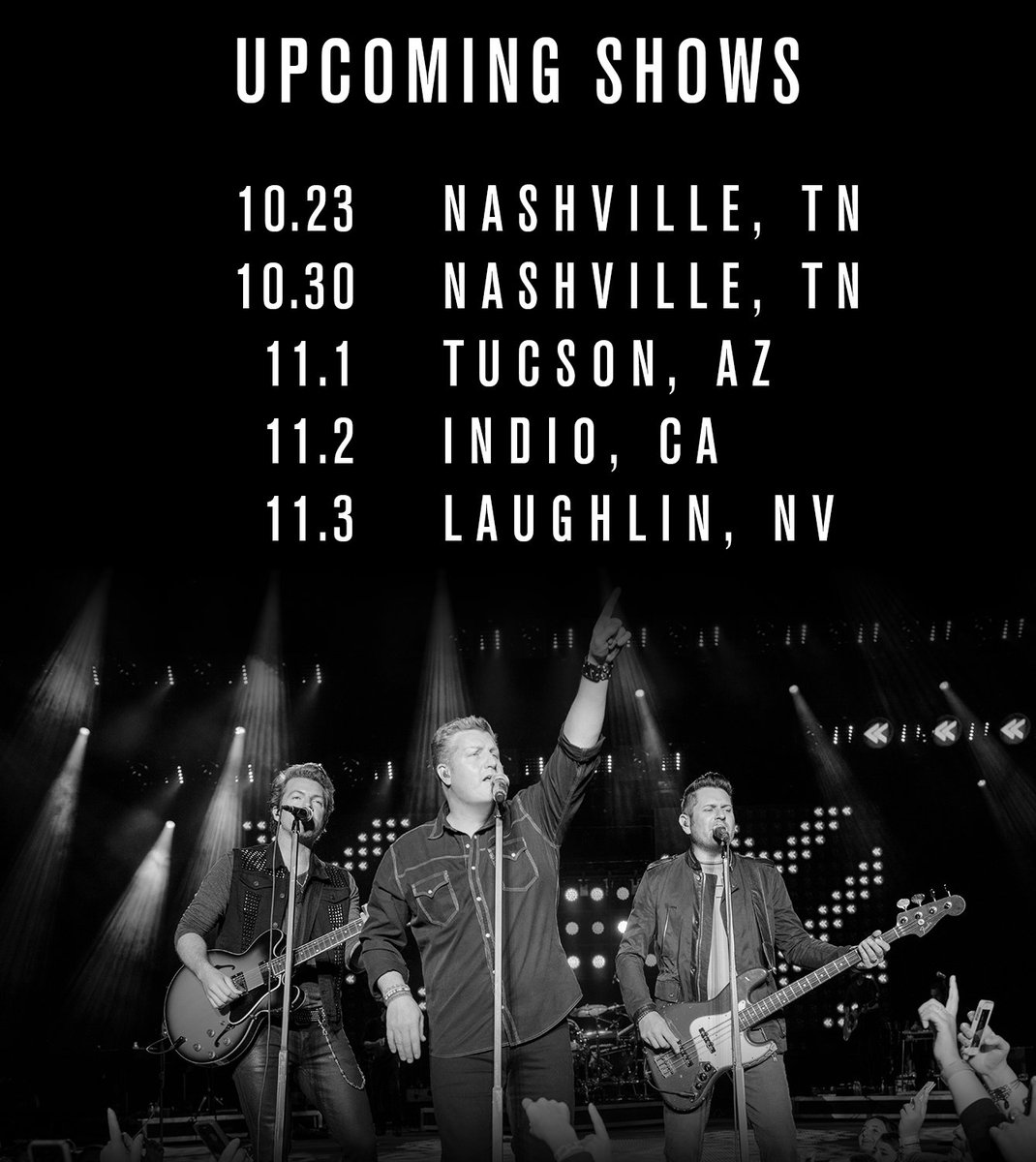 We've got 5 more shows in 2018! Who's coming out to see us? Tickets at rascalflatts.com/events