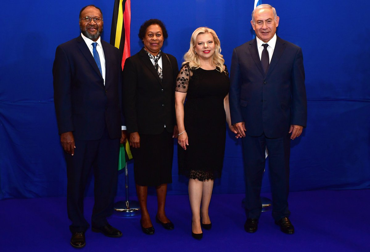 Earlier, Prime Minister Netanyahu and Vanuatu Prime Minister Salwai held a working meeting at the Prime Minister's Office.