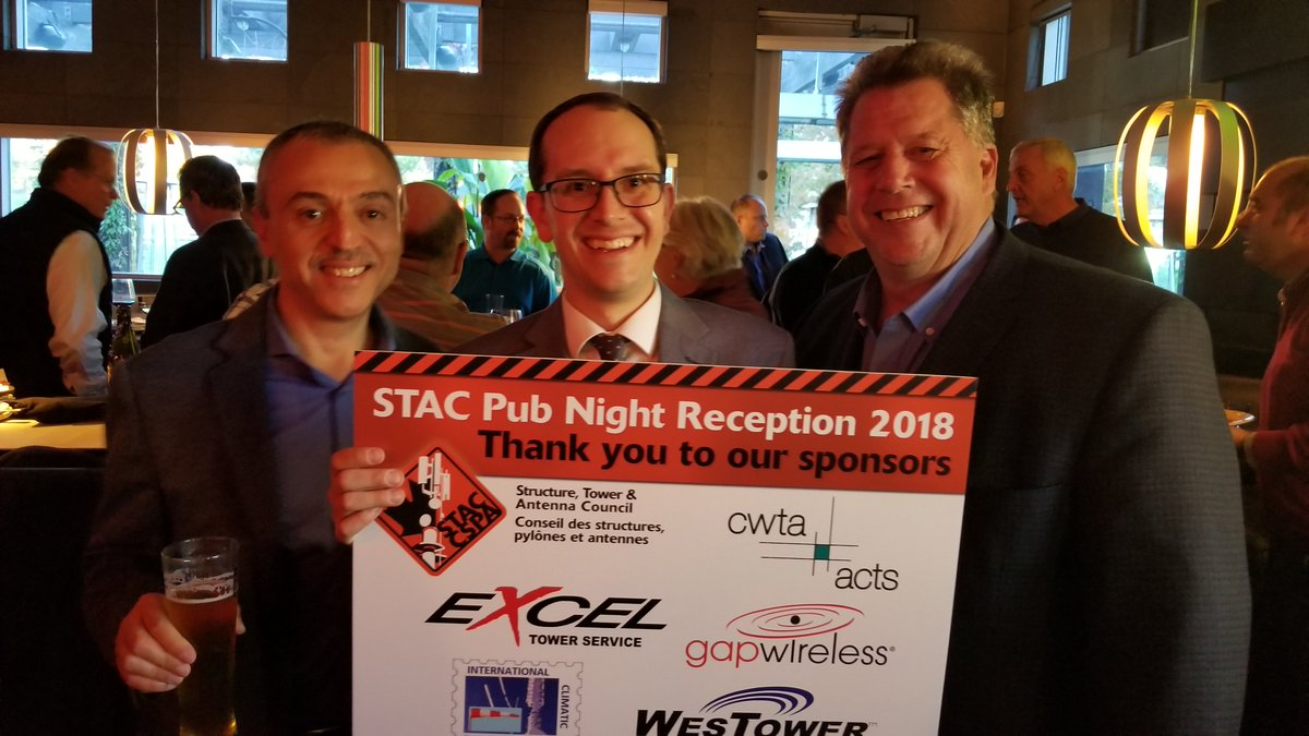 test Twitter Media - Thank you to  @GapWireless,  @Westower_Canada, Excel Tower Services, International Climatic Evaluations Inc, and @CWTAwireless for sponsoring tonight's STAC Pub Reception. A great evening of talking shop and safety with our members in Brampton. https://t.co/hIxMHbmz3v
