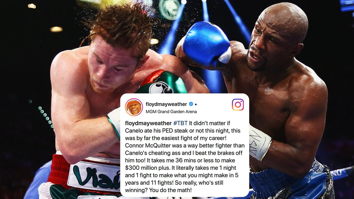 Floyd took jabs at Canelo and Conor in this week's #TBT.