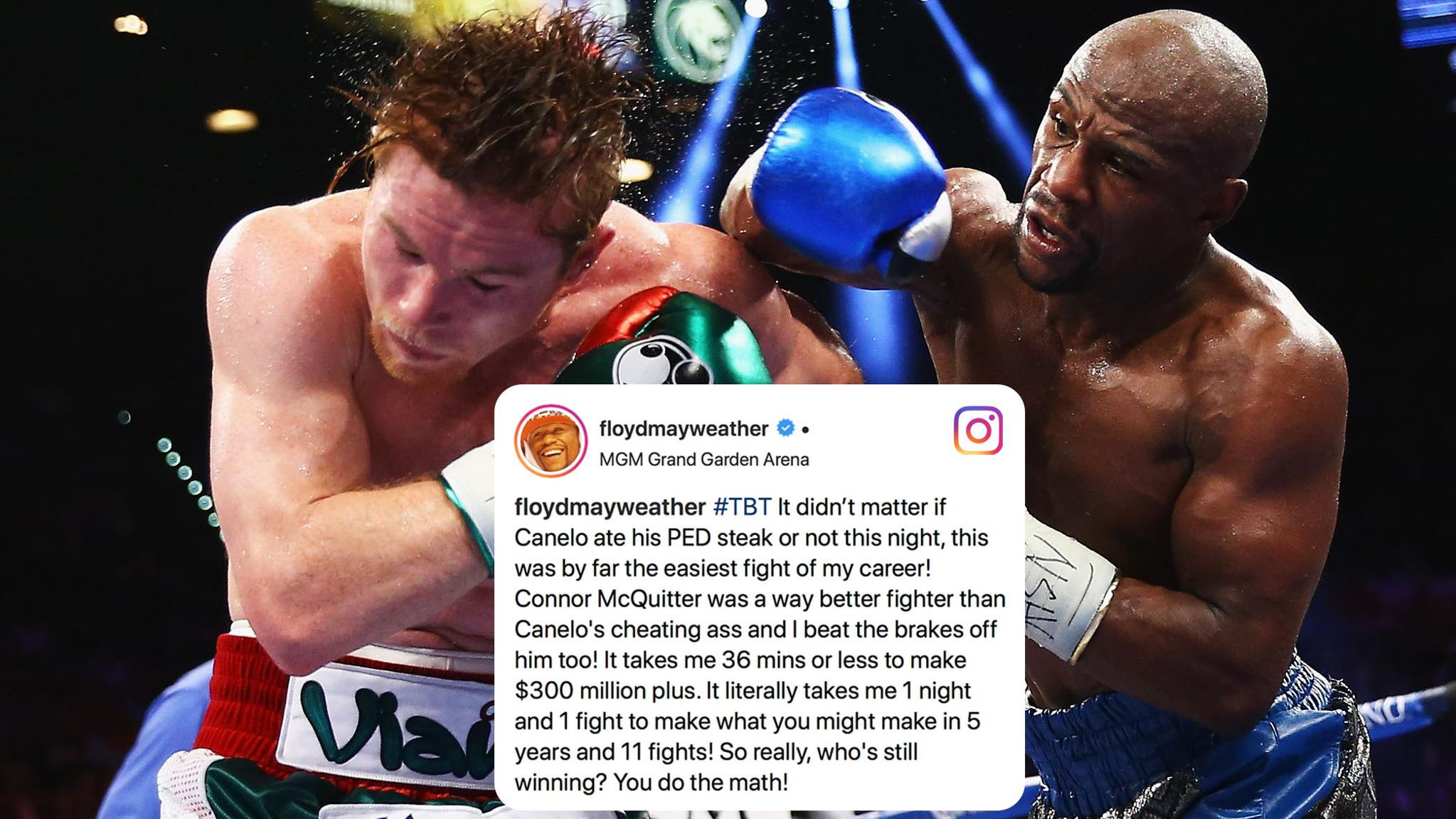 Floyd took jabs at Canelo and Conor in this week's #TBT. https://t.co/gUi1gBpL22