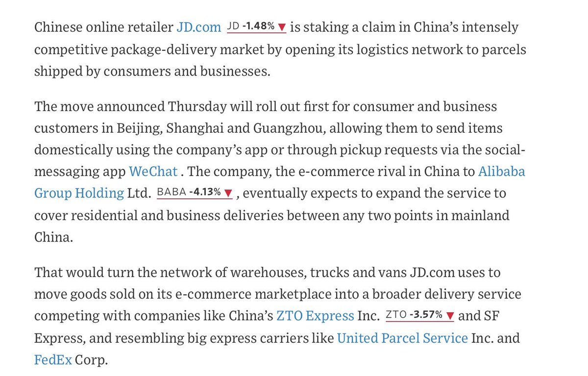 dc531f6ea9 https   www.wsj.com articles chinese-retailer-jd-com-turning -its-logistics-network-into-broader-delivery-service-1539833400 …