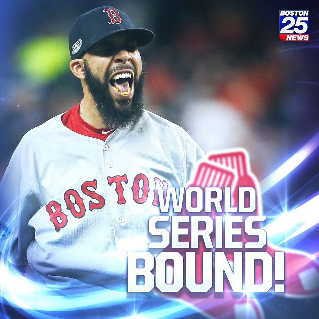 WORLD SERIES BOUND! HOW ABOUT THAT #REDSOX WIN?! The damage isn't done just yet! WHO'S EXCITED?! https://t.co/SPDVagtPER