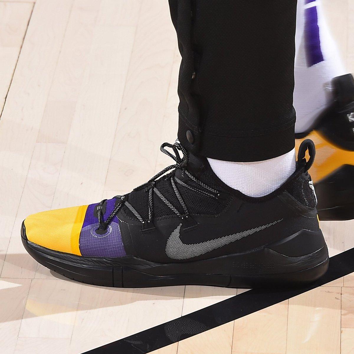 #SoleWatch: @kylekuzma rocking his Nike Kobe A.D. iD. 📸: @adbphotoinc