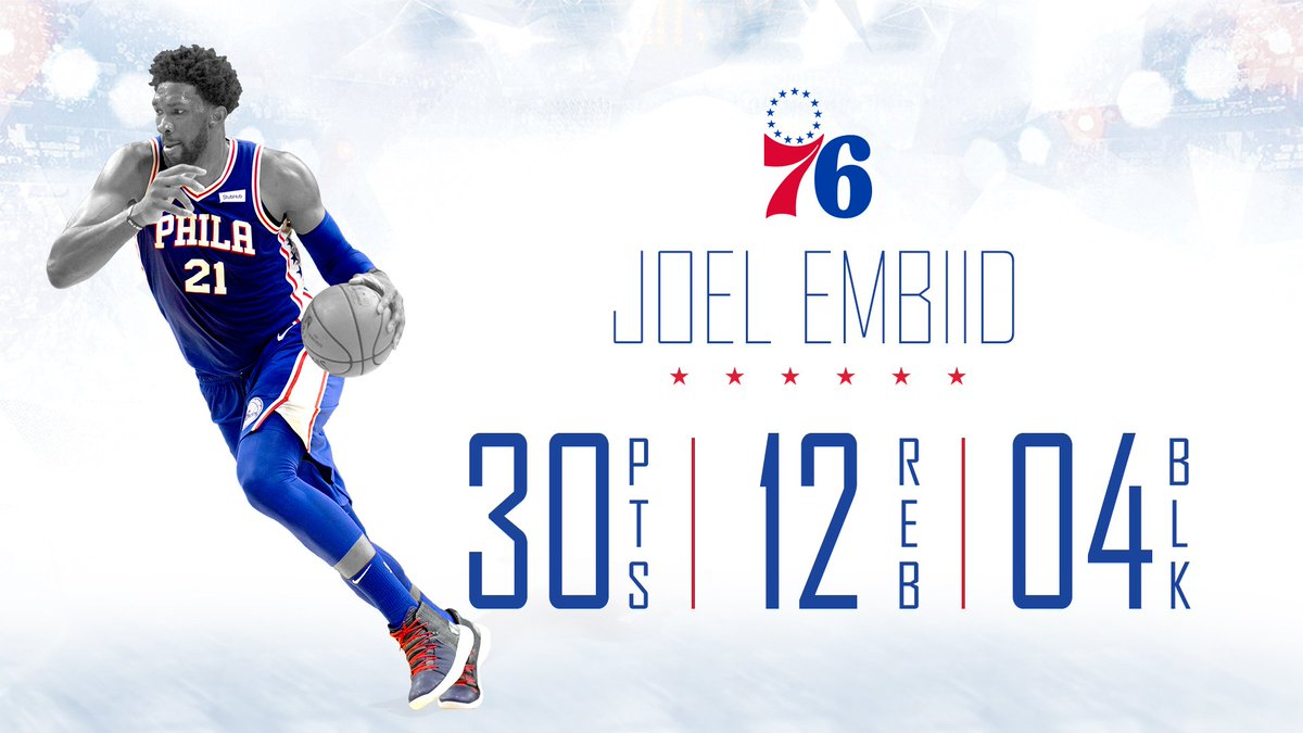 Have a night, big fella. @JoelEmbiid | #HereTheyCome
