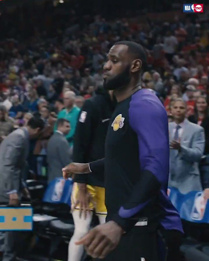 Bron ready. ��  Behind the scenes of LeBron's first game as a Laker. https://t.co/VsnOO4ryMp