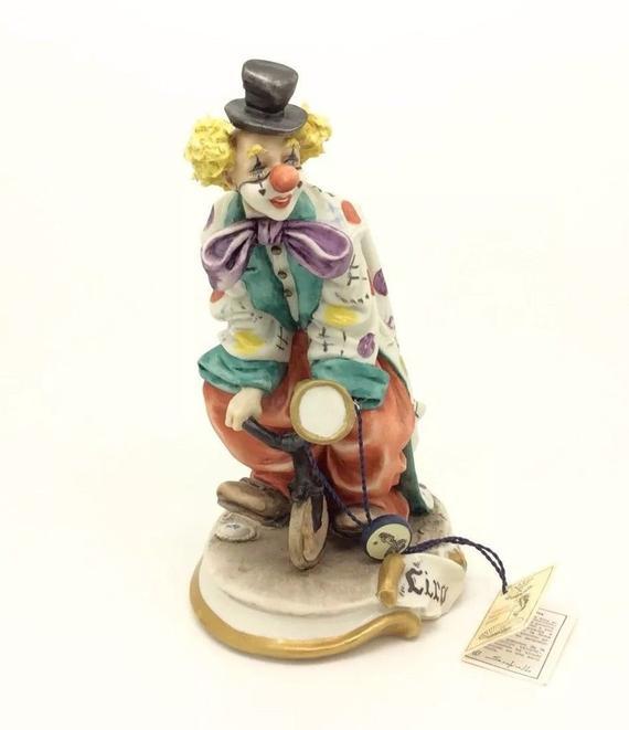 Capodimonte Porcelain Figurine Clown