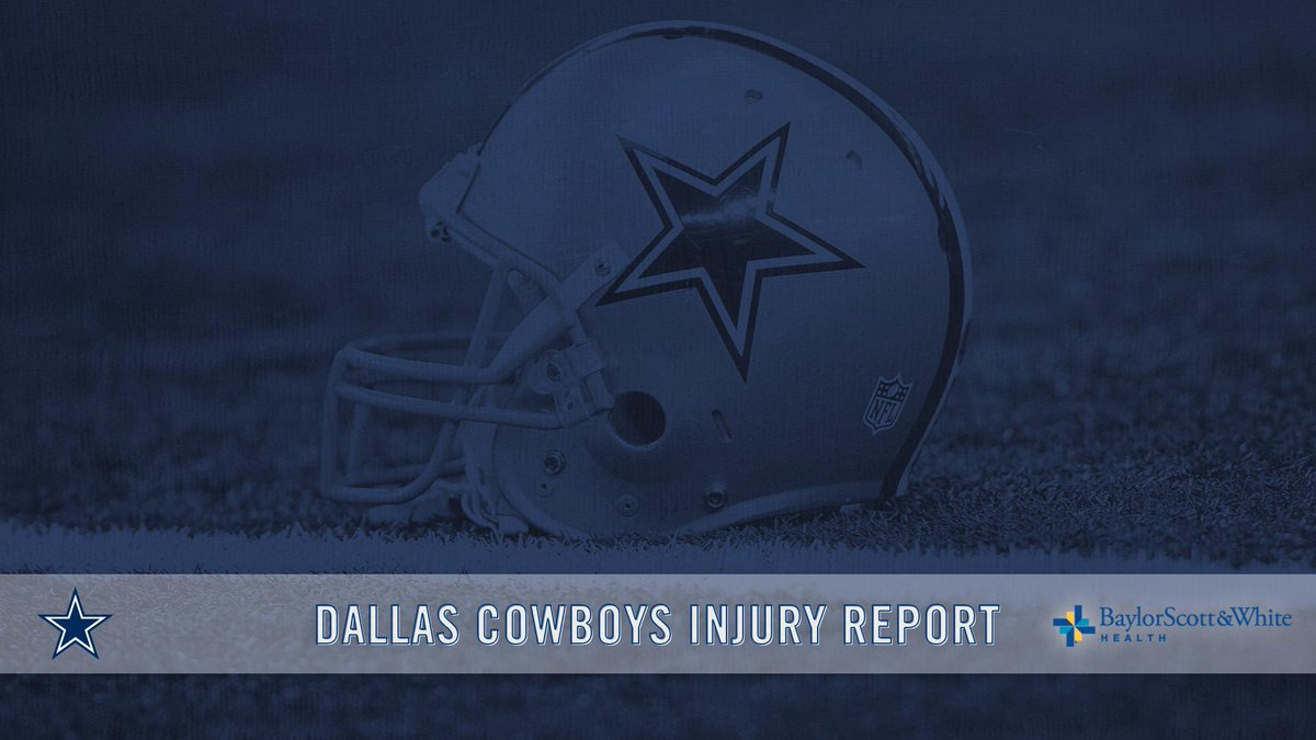 10/18 #DallasCowboys Injury Report  → https://t.co/udDN8hbTzJ