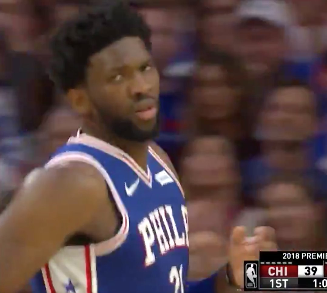 Joel Embiid (19 PTS, 8 REB) led the way for the @sixers in the first half! ��  #HereTheyCome https://t.co/j7lRWRw38D