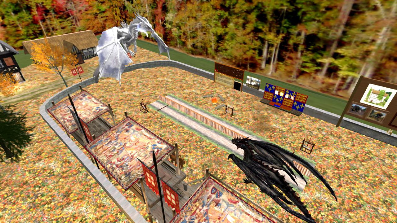 RENAISSANCE ISLAND JOUST In Second Life (10/18/2018) DRAGONS APPEARED