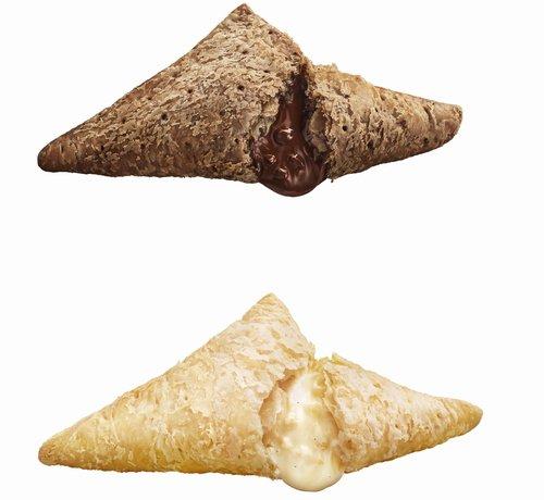 【待ってた】マクドナルド「三角チョコパイ」、26日発売! https://t.co/IJAcLMeRRd  不動の人気を誇る「黒」と濃厚なホワイトチョコの「白」を第1弾として展開。今冬は異なる三角チョコパイも登場する予定だという。