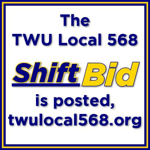 Twu Local 568 On Twitter Cc Ft Shift Bid Posted Pt Coming Soon