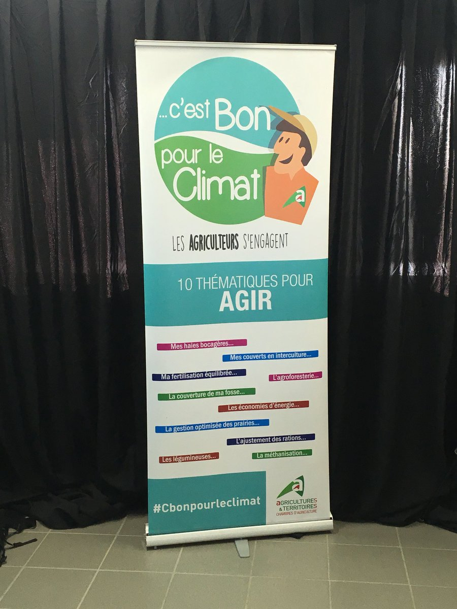 Journée climat à  l'hippodrome d Angers @ChambagriPdL @ademe  #climat #agriculture #agriculteurs  - FestivalFocus