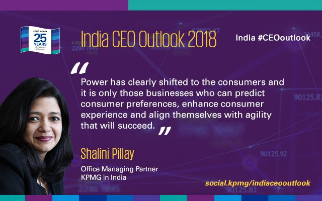 test Twitter Media - Power has clearly shifted to the consumers: @SPillay_KPMG, @KPMGIndia. India #CEOoutlook https://t.co/m1Yg6xIum5 https://t.co/WLIE2DVT2u