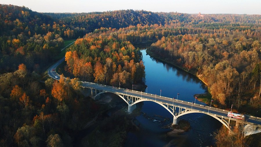 Latvia's golden days: impressive autumn views of Gauja river valley