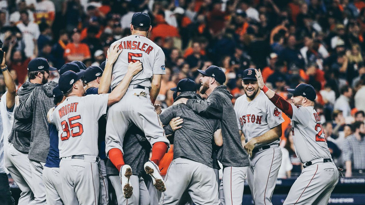 The @RedSox are the first team to eliminate multiple 100-win clubs in one #postseason since …  The 2004 Red Sox!