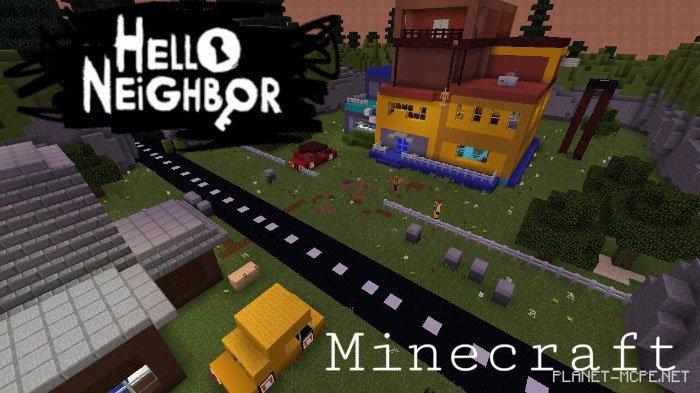 Мод и карта на привет сосед для майнкрафта на андроид