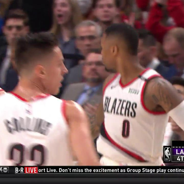 That's tough, Dame ❄️  #RipCity https://t.co/2NfWqne1rL
