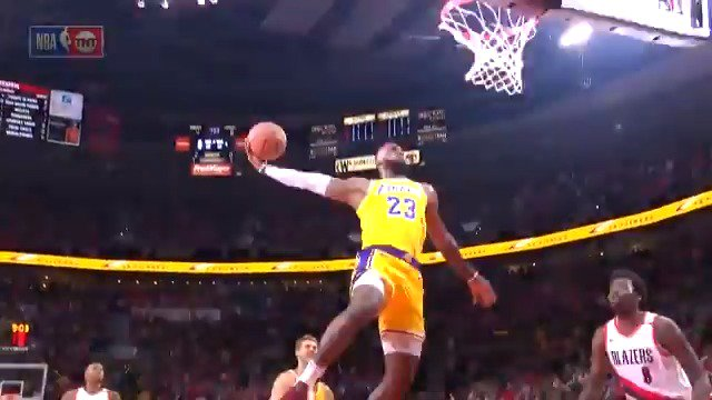 �� the TOP PLAYS from LeBron James' (26 PTS, 12 REB, 6 AST) @Lakers debut. #LakeShow #KiaTipOff18 https://t.co/vETGfLaUDZ