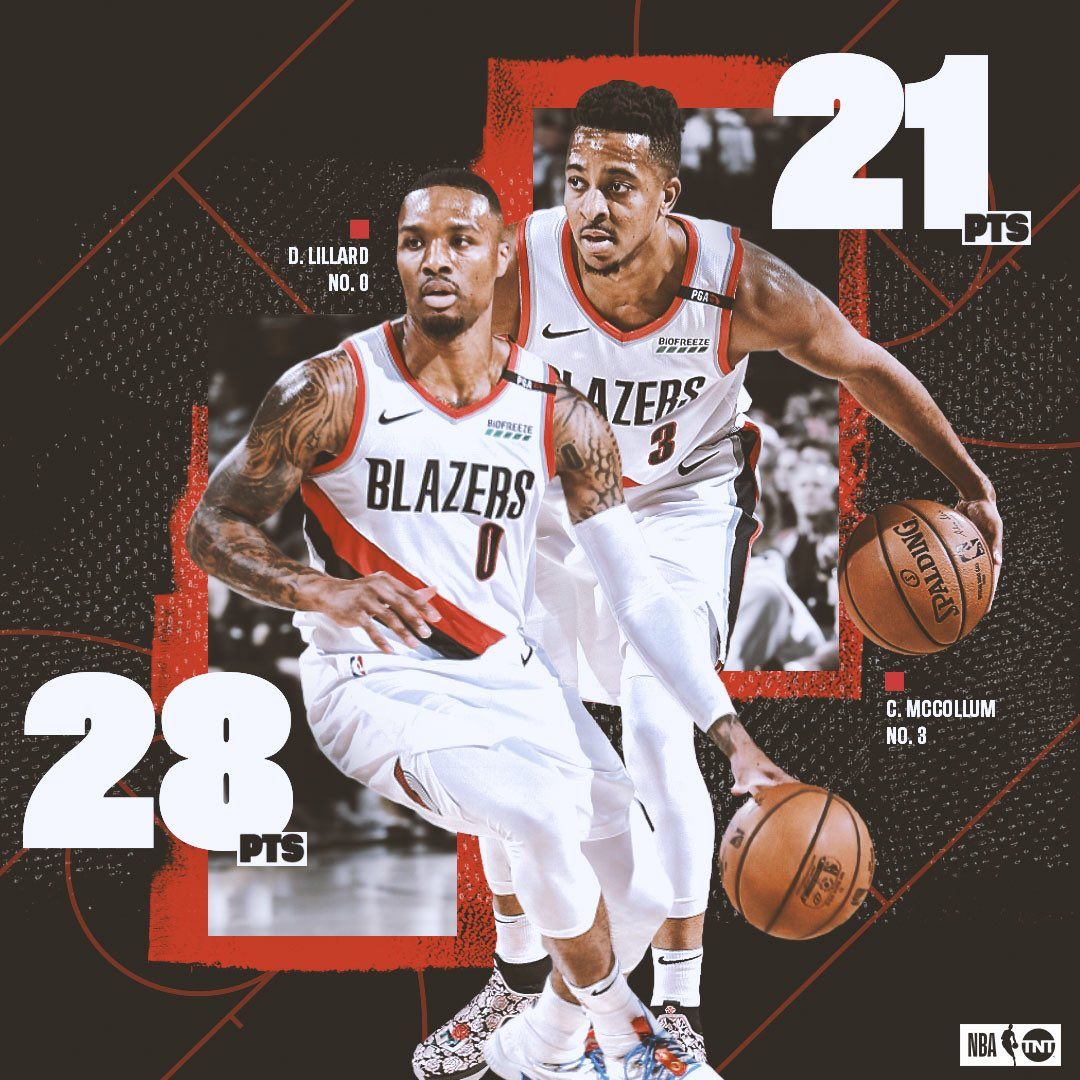 Dame and CJ brought the W to #RipCity https://t.co/lzk3zhQuGP
