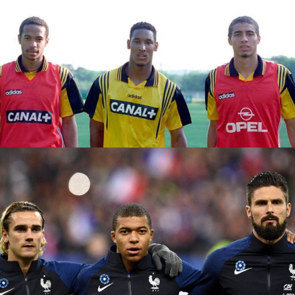 Which trio? #henry #anelka #trezeguet #griezmann #mbappe #giroud #france #worldcup #trio #question #football #futbol #footy #fussball #soccer #homeground #homegroundfooty