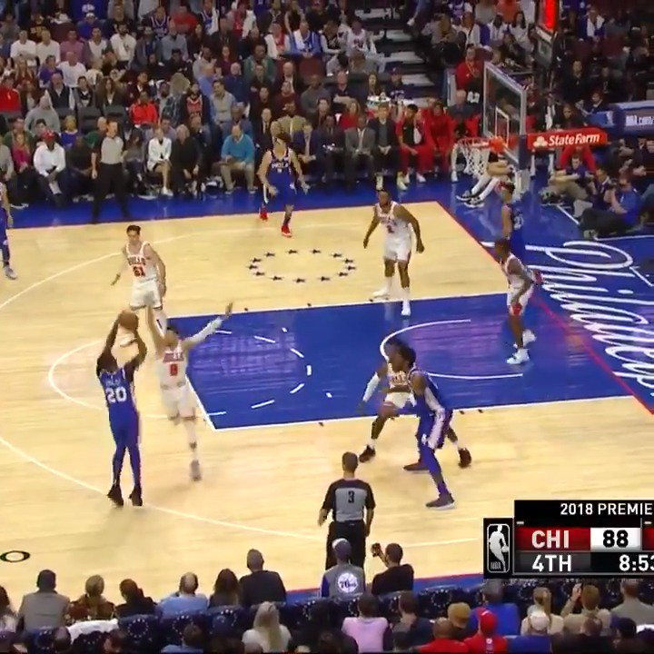 Markelle Fultz tallies 12 PTS, 5 AST in his @sixers 2018-19 home debut! #HereTheyCome #KiaTipOff18 https://t.co/VzRfaFTosQ