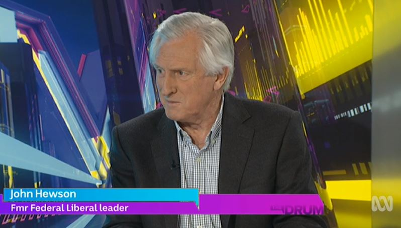 """""""I hope it is a referendum on the climate change issue and I think you forfeit your right as a government if you do not have a climate action policy.""""  John Hewson #auspol #TheDrum"""