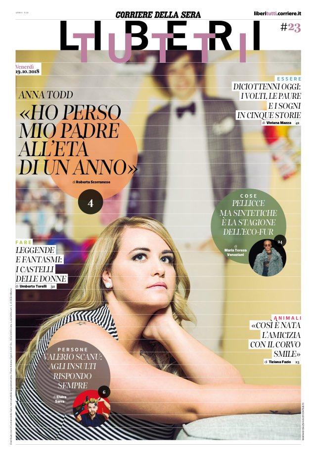 La copertina di #LiberiTutti oggi gratis in edicola (via @Corriere)
