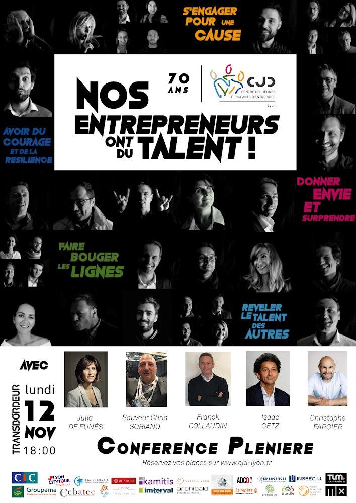 """Trouver du #sens à ce que l'on fait ... n'est-ce pas là le plus important dans la vie perso et #professionnelle ? C'est le thème de la prestige du CJD Lyon """"Nos entrepreneurs ont du talent!"""" le 12 novembre à 18H Transbordeur. Réservez votre place sur : http://yurplan.com/event/Nos-entr…  - FestivalFocus"""