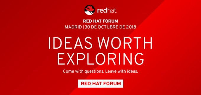 #RedHatForumES acerca nuevas alternativas del negocio Open Source - via @MuyCanal https://t.co/B...