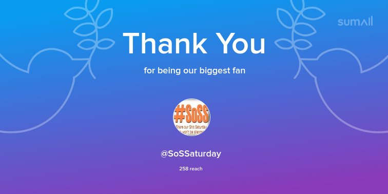 Our biggest fans this week: @SoSSaturday. Thank you!...