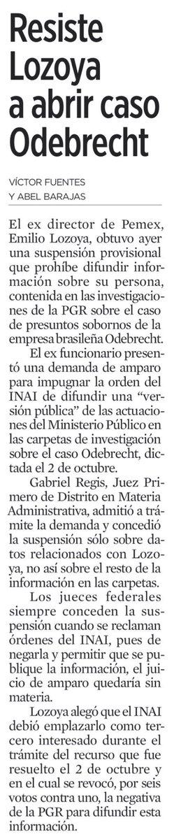 Mexico es el único país de América Latina donde el escándalo Odebrecht no ha tumbado a políticos de alto nivel. Aquí prevalece el pacto de impunidad, sexenio tras sexenio. Enjuage y repita 👇