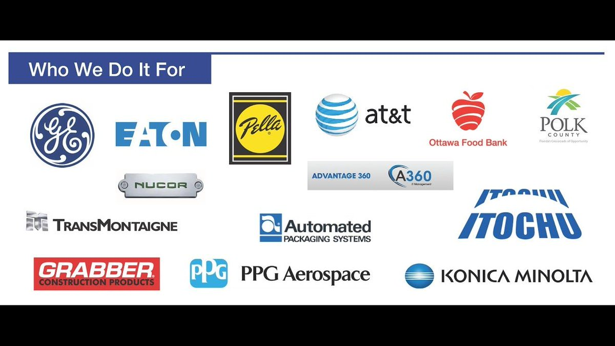 Logos of current Eclipse customers like AT&T, GE, Grabber, Konica Minolta, Pella and more