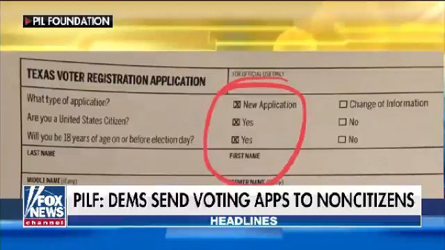 Texas Democrats accused of mailing pre-filled out voting applications to non-citizens https://t.co/u6mX2W0c9G