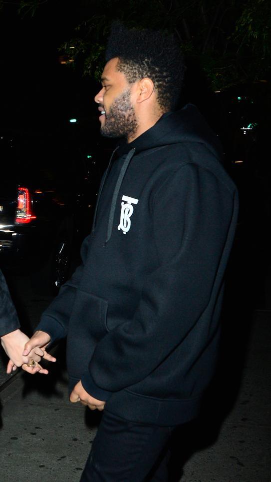 .@TheWeeknd wears the #ThomasBurberryMonogram hooded sweatshirt in New York #TheBSeries