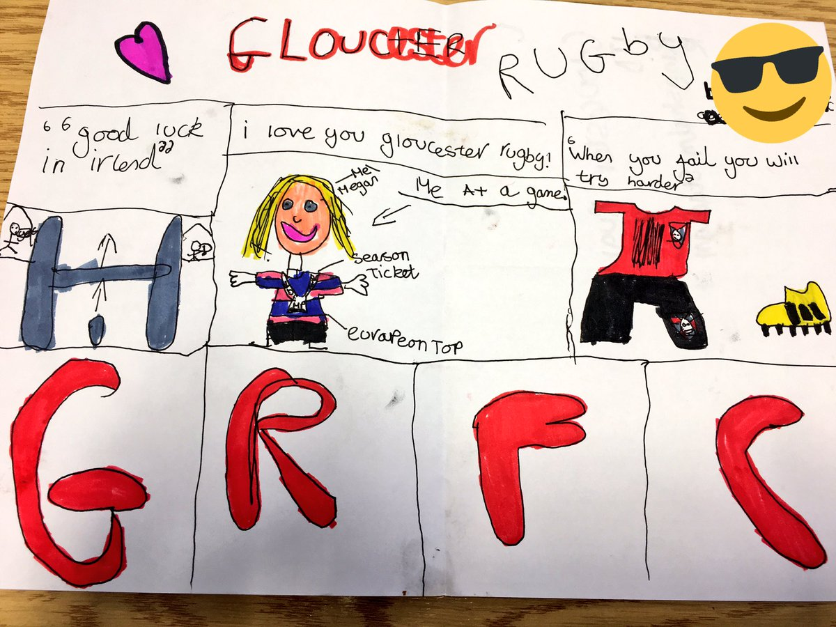 Thank you so much to our junior supporter Megan who sent us this awesome art ahead of this weekend's trip to Limerick!   We're passing it on to the team! 👋🏽
