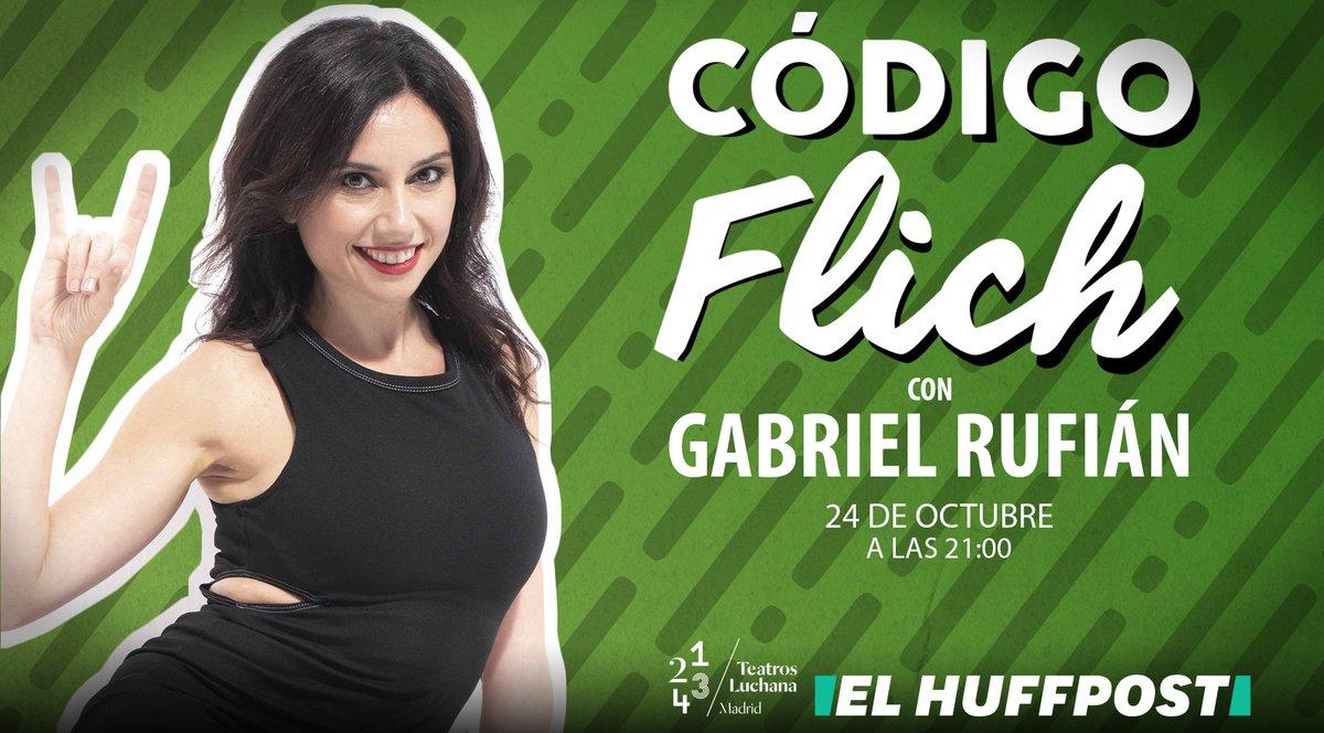 ¡Vuelve 'Código Flich'! Rufián y Flich, mano a mano. Consigue tu entrada aquí: https://t.co/0eUvzgvQMJ
