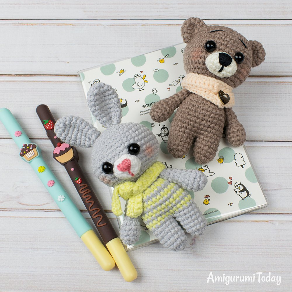 Free tiny crochet animal patterns - Amigurumi Today | 1000x1000