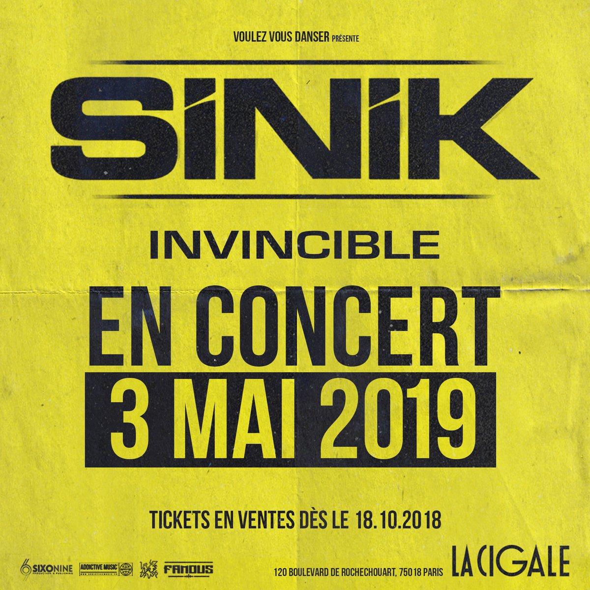 Convocation générale !! 🔥🔥🔥 #concert #lacigale #03mai #nouvelAlbum #invincible #janvier2019 #famous #sixOnine